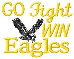 Go Fight Win Eagles embroidery design