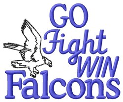 Go Fight Win Falcons embroidery design