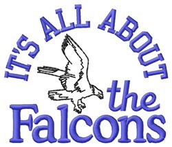 All About The Falcons embroidery design