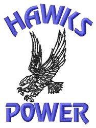 Hawks Power embroidery design
