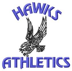 Hawks Athletics embroidery design