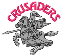 Crusaders embroidery design