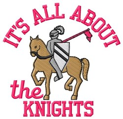All About The Knights embroidery design