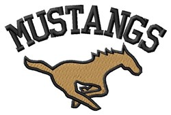 Mustangs embroidery design