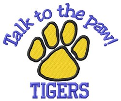 Tigers Paw embroidery design