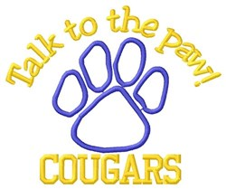 Cougars Paw embroidery design