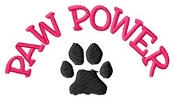 Paw Power embroidery design