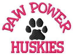 Paw Power Huskies embroidery design