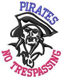 Pirates No Trespassing embroidery design