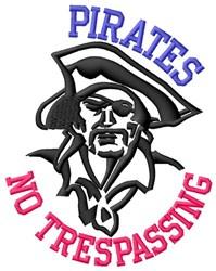 Pirates No Trespassing embroidery design