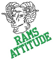 Rams Attitude embroidery design
