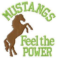 Mustangs Feel The Power embroidery design