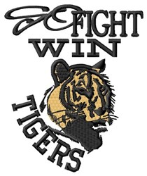 Go Fight Win Tigers embroidery design