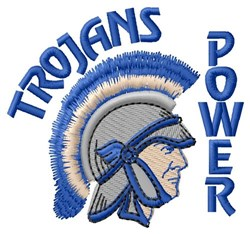 Trojans Power embroidery design