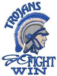 Trojans Go Fight Win embroidery design