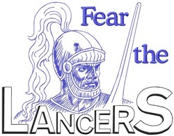 Fear The Lancers embroidery design