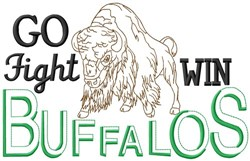 Go Fight Win Buffalos embroidery design