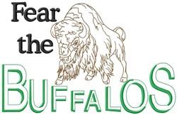 Fear The Buffalos embroidery design
