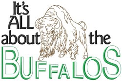 All About The Buffalos embroidery design