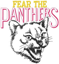 Fear The Panthers embroidery design