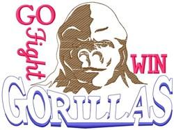 Go Fight Win Gorillas embroidery design