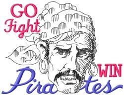 Go Fight Win Pirates embroidery design