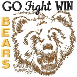 Go Fight Win Bears embroidery design
