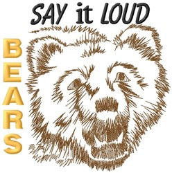 Say It Loud Bears embroidery design