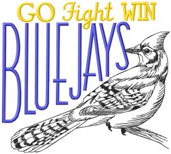 Fight Win Blue Jays embroidery design