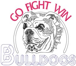 Go Fight Win Bulldogs embroidery design