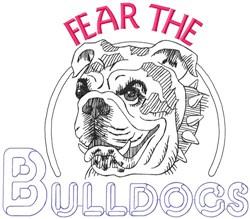 Fear The Bulldogs embroidery design