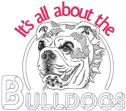 All About The Bulldogs embroidery design