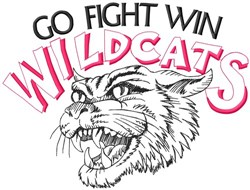 Go Fight Win Wildcats embroidery design