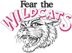 Fear The Wildcats embroidery design