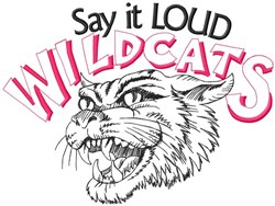 Say It Loud Wildcats embroidery design