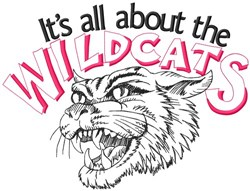 All About The Wildcats embroidery design
