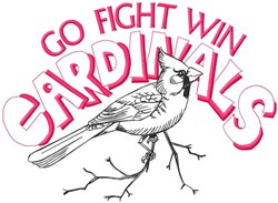 Go Fight Win Cardinals embroidery design