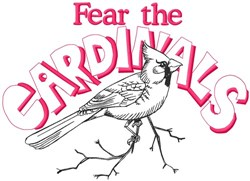 Fear The Cardinals embroidery design