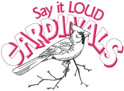 Say It Loud Cardinals embroidery design