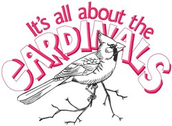 All About The Cardinals embroidery design