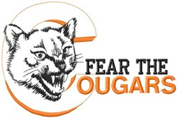 Fear The Cougars embroidery design