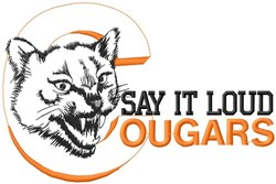 Say It Loud Cougars embroidery design