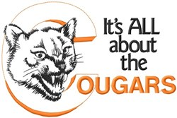 All About The Cougars embroidery design