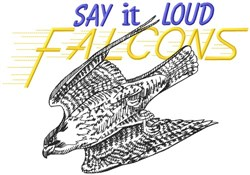 Say It Loud Falcons embroidery design