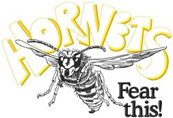 Hornets Fear This embroidery design