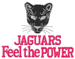 Jaguars Feel The Power embroidery design