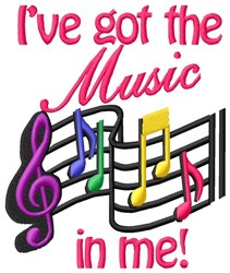Got Music In Me embroidery design
