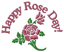 Happy Rose Day embroidery design