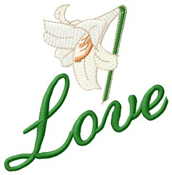 Love Flower embroidery design