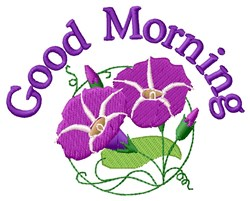 Good Morning Flower embroidery design